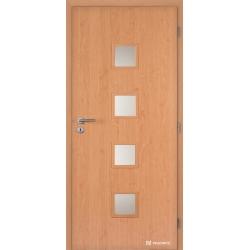 Jednokrídlové laminátové dvere Masonite - Quadra sklo - CPL Jelša
