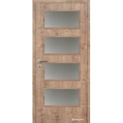 Jednokrídlové laminátové dvere Masonite - Dominant sklo - CPL Dub prírodný