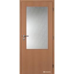 Jednokrídlové fóliované dvere Masonite - Sklo 2/3 - Fólia Buk