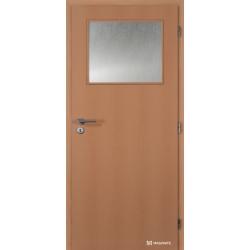 Jednokrídlové fóliované dvere Masonite - Sklo 1/3 - Fólia Buk