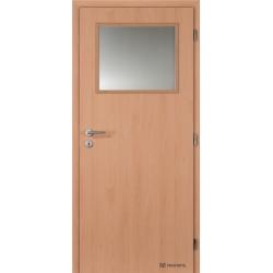 Jednokrídlové laminátové dvere Masonite - Sklo 1/3 - CPL Buk
