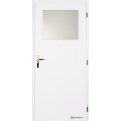 Jednokrídlové biele dvere Masonite - Sklo 1/3 - RAL 9003