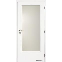 Jednokrídlové biele dvere Masonite - Sklo 3/4 - RAL 9003