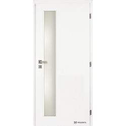 Jednokrídlové biele dvere Masonite - Vertika sklo - RAL 9003