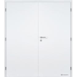 Dvojkrídlové biele dvere Masonite - Plné - RAL 9003
