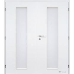 Dvojkrídlové biele dvere Masonite - Linea - RAL 9003
