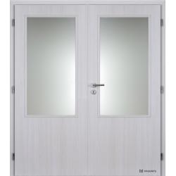 Dvojkrídlové polypropylénové dvere Masonite - Sklo 2/3 - Jasan
