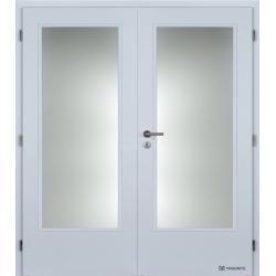 Dvojkrídlové polypropylénové dvere Masonite - Sklo 3/4 - Biela pór