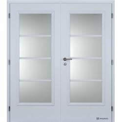 Dvojkrídlové polypropylénové dvere Masonite - Superior - Biela pór