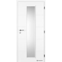 Jednokrídlové dvere Masonite - QUATRO LINEA - Biely rámček