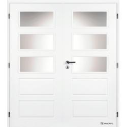 Dvojkrídlové dvere MASONITE - OREGON Sklo - Biely rámček