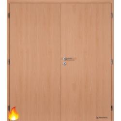 Dvojkrídlové protipožiarné laminátové dvere Masonite - Plné - CPL Buk