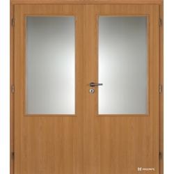 Dvojkrídlové laminátové dvere Masonite - Sklo 2/3 - CPL Dub