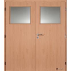 Dvojkrídlové laminátové dvere Masonite - Sklo 1/3 - CPL Buk