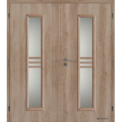 Dvojkrídlové laminátové dvere Masonite - Stripe - CPL Natural