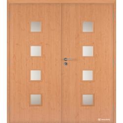 Dvojkrídlové laminátové dvere Masonite - Quadra sklo - CPL Jelša