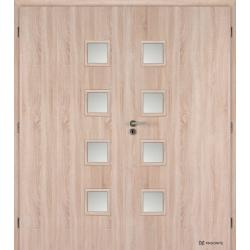 Dvojkrídlové laminátové dvere Masonite - Giga sklo - CPL Bardolino