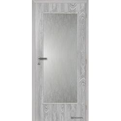 Jednokrídlové fóliované dvere Masonite - Sklo 3/4 - Fólia Dub šedý