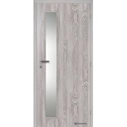 Jednokrídlové fóliované dvere Masonite - Vertika sklo - Fólia Dub šedý