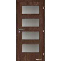 Jednokrídlové fóliované dvere Masonite - Dominant sklo - Fólia Orech rustikálny