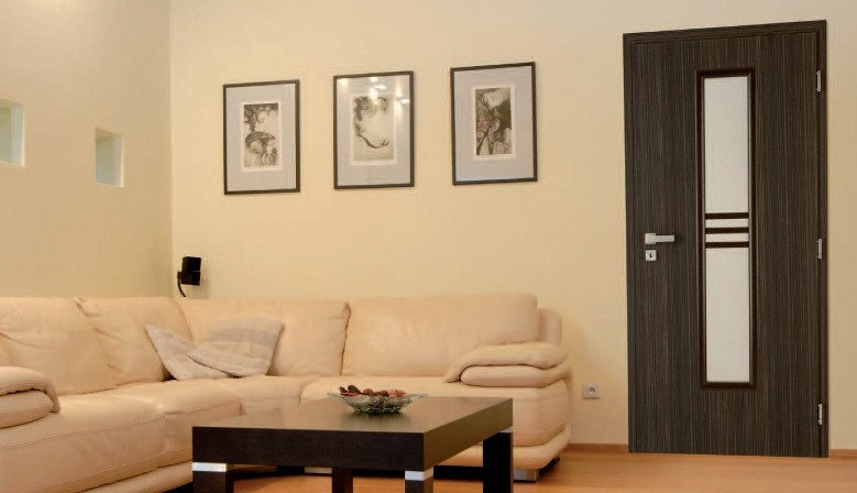 Jednokrídlové dvere STRIPE - dekor Makasar
